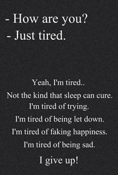 Finally I've Given Up.....