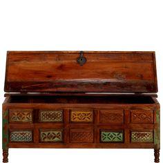 butlers casket khan truhe mit stauraum kassette tv mobel beistelltische wohnzimmer lounge mobel