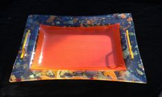 "Glass Tray 17""X 13"" Glass Tray, Oklahoma City, Glass Design, Gallery, Artist, Home Decor, Decoration Home, Roof Rack, Room Decor"