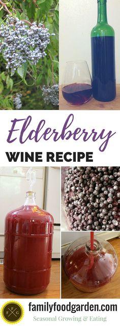Elderberry wine recipe using fresh or dried elderberries