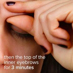 Then, use your thumbs and index fingers to gently pinch the inner eyebrow. Feeling any better yet? These 8 Pressure Points Will Help You Relieve Congestion How To Relieve Congestion, Relieve Sinus Headache, Sinus Pressure Headache, Sinus Congestion Relief, Tension Headache Relief, Pressure Points For Headaches, Chest Congestion Remedies, Relieve Sinus Pressure, Massage Pressure Points