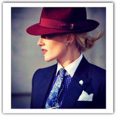 "Unisex accessory hat, tie, handkerchief (Sarah Ann Murray - Grand Palais - Paris Fashion Editor pour ""The Rake"") Look Fashion, Paris Fashion, Fashion Outfits, Womens Fashion, Date Outfits, Cool Outfits, Amazing Outfits, Mode Style, Style Me"