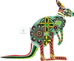 Find Silhouette Kangaroo Colorful Patterns Australian Aborigines stock images in HD and millions of other royalty-free stock photos, illustrations and vectors in the Shutterstock collection. Indigenous Australian Art, Australian Animals, Indigenous Art, Aboriginal Art Animals, Aboriginal Dot Painting, Ethnic Patterns, Color Patterns, Aboriginal Tattoo, Kunst Der Aborigines