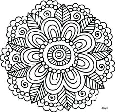 coloriage-mandala-en-ligne-34 #mandala #coloriage #adulte via dessin2mandala.com