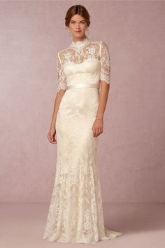 Pin for Later: The Ultimate Guide to Wedding Dresses With Sleeves BHLDN Bridgette Gown ($1,600)