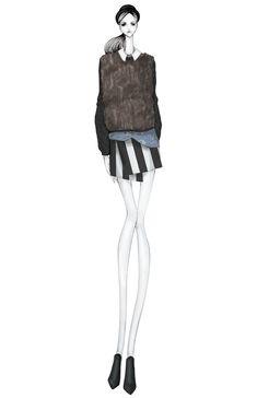 Fashion illustration - stylish fashion design drawing // Issa Grimm