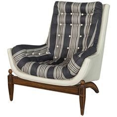 Lounge Chair by Adrian Pearsall in Dove Grey Leather