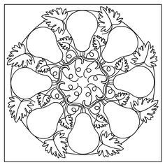 Autumn Mandala * Coloring pages