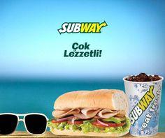 """Deniz, kum, güneş ve tabii ki Subway!"" Subway, #Espark 2.katta."