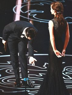 Joseph Gordon-Levitt and Emma Watson. Oscars 2014, Joseph Gordon Levitt, Hey Good Lookin, Charming Man, Hooray For Hollywood, Harry Potter Universal, Perfect Couple, Yacht Club, Just Kidding