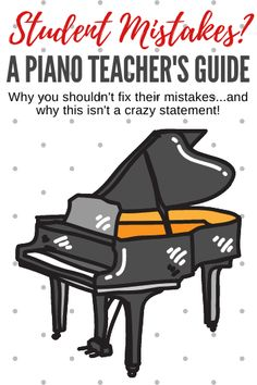 Why You Shouldn't Fix Your Piano Students' Mistakes Music Teachers, Music Education, Teaching Activities, Teaching Tips, Piano Games, Reading Test, Piano Teaching, Piece Of Music, Fix You