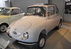 Subaru 360. While Fuji Heavy Industries produced their first car in 1954, they didnt achieve volume success until they released the Subaru 360.