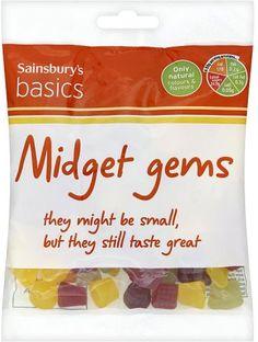 Sainsbury's Basics Midget Gems (200g)