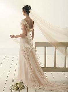 from Le Spose di Gio's 2009 bridal collection. Love the corset back and the ivory colour Simple Wedding Gowns, Elegant Wedding Dress, Bridal Dresses, Prom Dresses, Dream Dress, Bridal Collection, Beautiful Bride, Bridal Style, Pretty Dresses