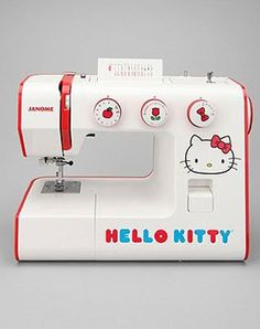 Hello Kitty Janome sewing machine for all your DIY needs ~ for the granddaughter