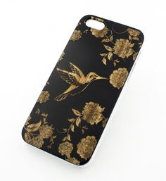 Black Ink Bamboo Wood Cover for Apple IPHONE 5 / 5S - 'Vintage Humming – milkyway