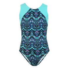 Pinnacle Aqua | TANK Leotards | Gymnastics Leotards