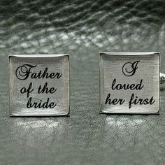 Father of the Bride - I loved her first - Imprinted Silver Leaf Wedding Cuff links Perfect Wedding, Fall Wedding, Our Wedding, Dream Wedding, Wedding Dreams, Rustic Wedding, Father Daughter Songs, Father Of The Bride, Wedding Wishes