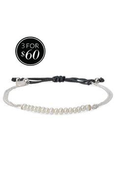 Silver Beaded Chain Necklace with Nylon Tie | Wisdom Bracelet | Stella & Dot
