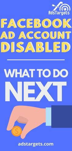 What to do if your Facebook ad account is disabled? This article has the trick. #onlineadvertising Facebook Ads Manager, Facebook Users, Affiliate Marketing, Online Marketing, Digital Marketing, Get Rich Quick, How To Get Rich, Online Advertising, Disability