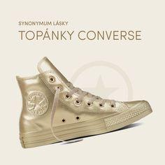 Poštovné ZADARMO nad 40 EURa skúsenosti od roku 2008? Každá milovníčka módy pozná módny e-shop Differenta.sk. Najobľúbenejší slovenský módny e-shop, ktorý predáva tie najzaujímavejšie módne značky oblečenia, topánok a módnych doplnkov. Tak už nebuďte nudní. Converse Chuck Taylor High, Converse High, High Top Sneakers, Chuck Taylors High Top, High Tops, Shoes, Fashion, Moda, Zapatos