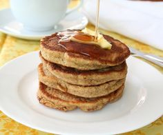 Healthy Walnut Flax Pancakes - no flour or sugar, just flaxseed, eggs and other healthy ingredients. And they are delicious....my kids love them!