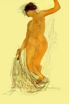 Auguste Rodin,femme nue, 1906.