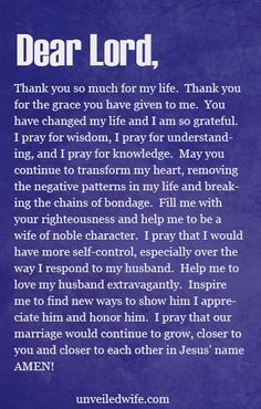 Prayer Of The Day - Being A Wife Of Godly Character