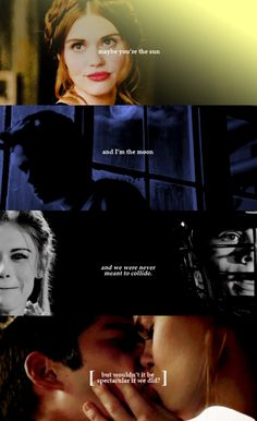 """Maybe you're the sun and I'm the moon and we were never meant to collide. But wouldn't it be spectacular if we did?"" #Stydia #TeenWolf"