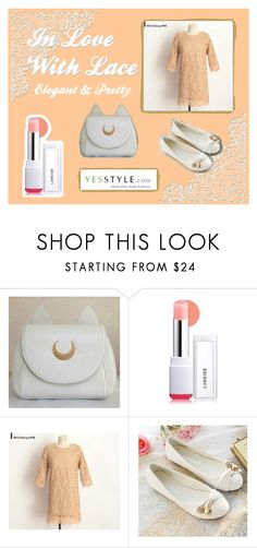 """""""In Love With Lace - Elegant"""" by magiciancat on Polyvore featuring Laneige, DEEPNY, Pastel Pairs and productPageSectionTop"""