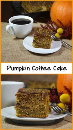 Pumpkin Coffee Cake - Super moist and full of Fall flavors. by Don't Sweat The Reccipe