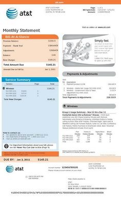 photography invoice sample Segregating Your Phone Bill – A Sample At&t Bill . Bill Template, Id Card Template, Invoice Template, Payroll Template, Invoice Sample, T Mobile Phones, Statement Template, Publisher Clearing House, List Of Jobs