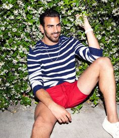 'antm' winner nyle dimarco's first-ever magazine spread is here -NYLON Story by: Chris Lukas Beach Fashion Photography, Nyle Dimarco, Wilhelmina Models, Red Swimsuit, Next Top Model, Raining Men, Actor Model, Guys And Girls, Male Models