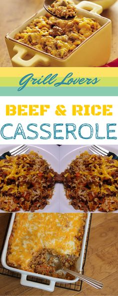 Grill Lovers' Amazing Beef and Rice Casserole Recipe #recipes #foodporn #foodie