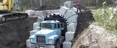 The arch-lock technology from Lock Block Ltd. fits concrete blocks together like a zipper, forming reusable tunnels and arches in record time.