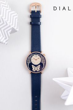 Designed by paper artist Sarah Dennis, the Butterfly Watch from Dial is the epitome of whimsical, chic style.