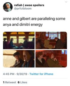 Anastasia Musical, Gilbert And Anne, Gilbert Blythe, Fandom Crossover, Anne Shirley, Fandom Memes, Cuthbert, Kindred Spirits, Stuff And Thangs