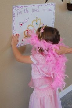 pin the jewel on the tiara... For before Cinderella gets there game...