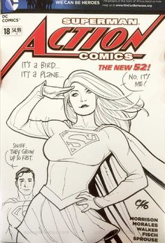 Supergirl by Frank Cho comic art