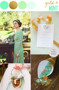 Color Story | Mint   Gold http://www.theperfectpalette.com/2013/11/color-story-mint-gold.html