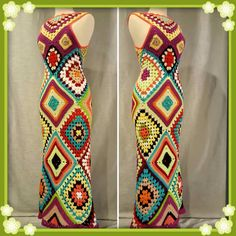 Check out this item in my Etsy shop https://www.etsy.com/listing/277621578/womens-crochet-granny-square-maxi-hippie