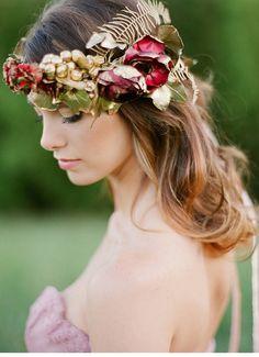 Romantische Inspirationen in Rosa-, Rot- und Goldtönen von Kayla Barker Fine…