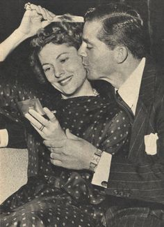 Joan Fontaine and Dana Andrews