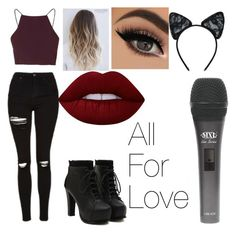 """""""Untitled #37"""" by denisebrione on Polyvore featuring Topshop, Maison Close and Lime Crime"""