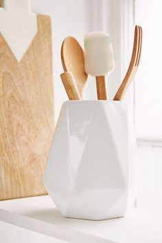 Faceted Utensil Holder » This is perfect for my kitchen.