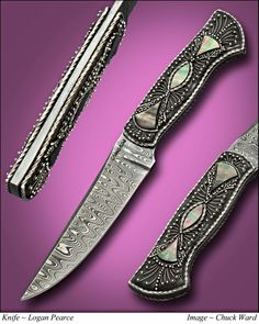The Black Pearl: A Filigree and Pearl obsession by Logan Pearce Knives.