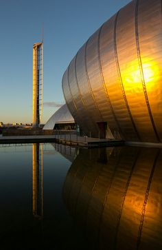 The IMAX cinema is part of the Science Centre complex at Glasgow Riverside, Scotland by Stuart Macrae