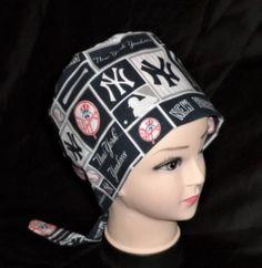 c9cda2d3fa8a3 Handmade New York Yankees Baseball Scrub Cap Women Surgical Scrubs Scrub  Caps Ladies