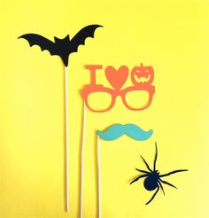 Halloween Photo Booth Props Halloween by CreativeButterflyXOX, $9.95