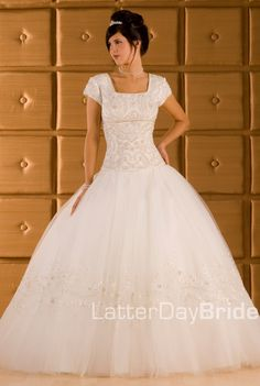 Francesca. Gorgeous tulle ball gown. I am loving the beading on the skirt.